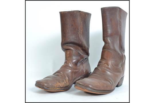 A pair of original mens American ' Frye ' leather cowboy