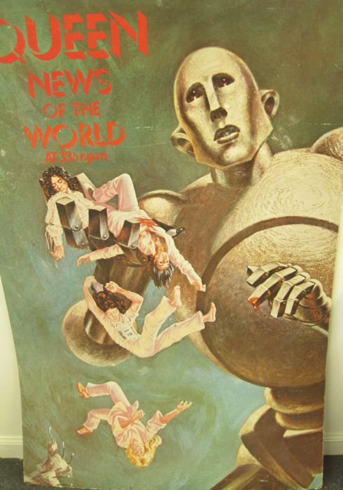 Lot 31 - Queen - News of the World - Poster Advertising poster for the LP record of Queen's album, News of