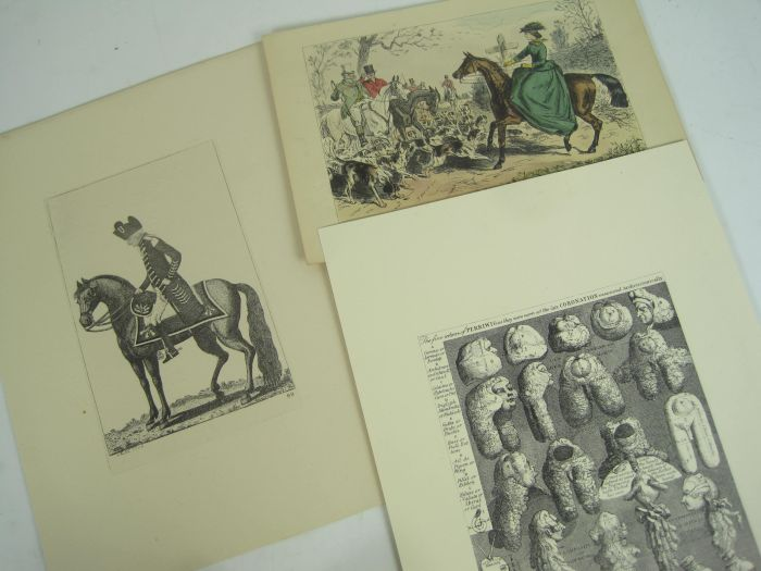 Lot 25 - Hogarth, Kay, Geikie, Leech and Bewick - a large collection of engravings, 385 prints, many