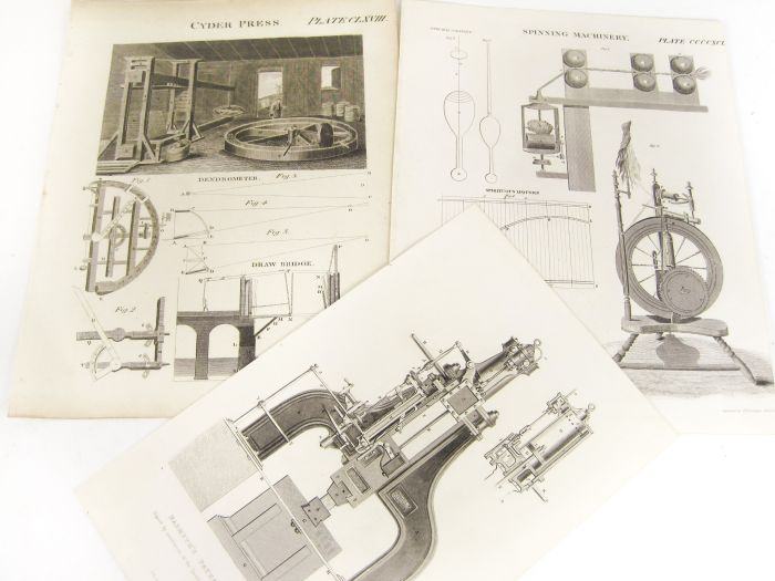 Lot 33 - Science, technology, military and naval prints, a large collection comprising 344 8vo/12mo sized
