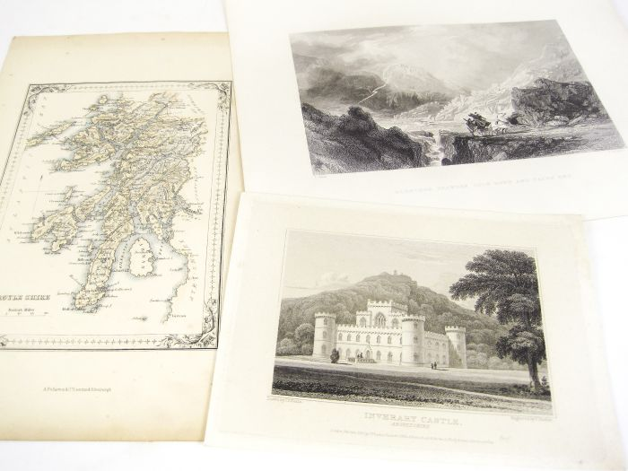 Lot 34 - Scottish topographical prints, a large collection, comprising 1033 mainly 8vo/12mo-sized prints of