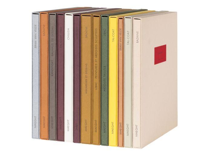 Lot 5 - Derrière le Miroir - 13 art books, 12 signed by the artists, comprising: Ubac Ardoises taillées.