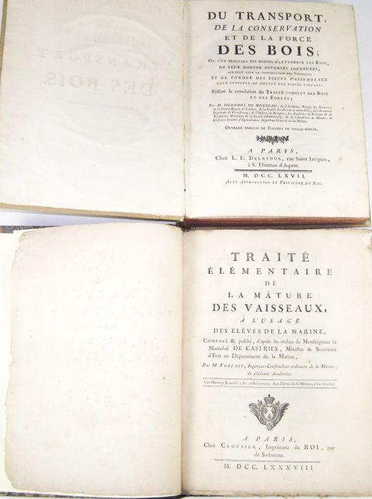 Lot 49 - Forfait, P.A.L. Traité élémentaire de la mâture des vaisseaux. Paris, 1788. First edition, 4to, 24