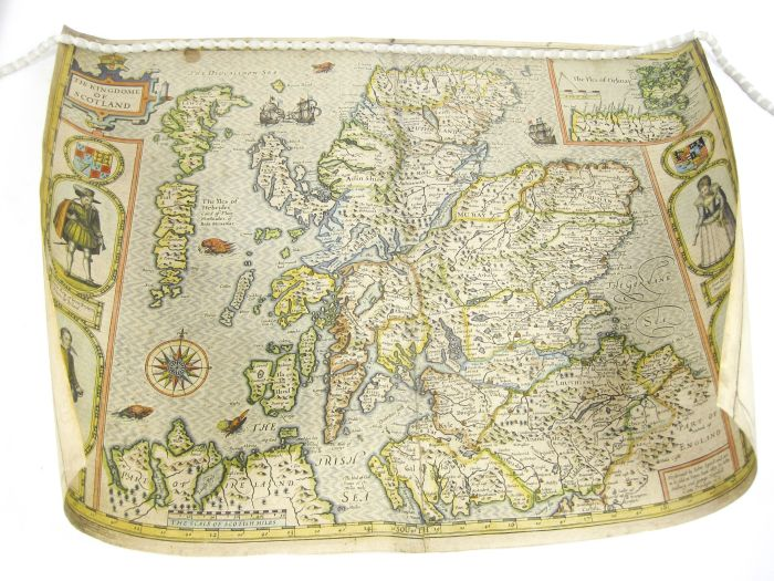 Lot 35 - Speed, John The Kingdome of Scotland, hand-coloured engraved map, first issue with inset portraits