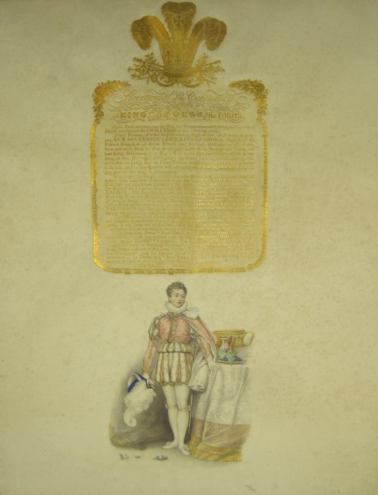 Lot 37 - Whittaker, John Leaf from Whittaker's Ceremonial of the Coronation of his most sacred Majesty King