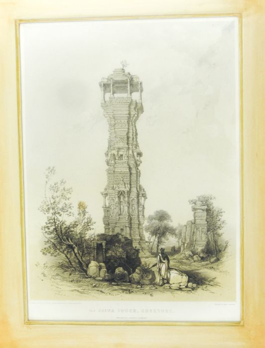 Lot 27 - Indian temples - Fergusson, James Temple and Car of Juganath, Puri; Port of Parvati's temple at
