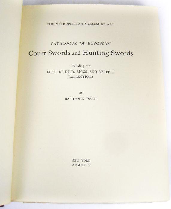 Lot 3 - Bashford, Dean Catalogue of European court swords and hunting swords. New York: The Metropolitan
