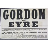 Broadside - Jamaica - Anti-Slavery Society - Gordon and Eyre The Committee of the British and