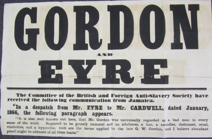 Lot 19 - Broadside - Jamaica - Anti-Slavery Society - Gordon and Eyre The Committee of the British and