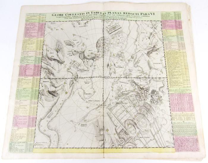 Lot 22 - Celestial maps - Doppelmayr, Johann Gabriel Globi coelestis in tabula planas redacti, pars i-vi.