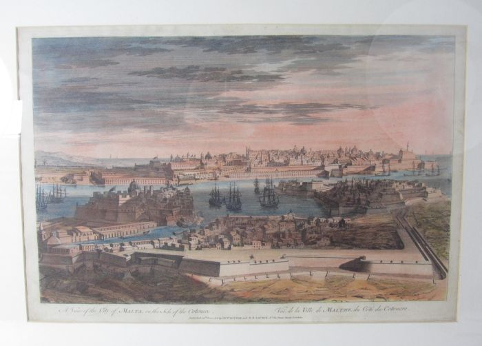 Lot 28 - Malta - Goupy, after Benoist A view of the city of Malta, on the side of the cotonere. London: