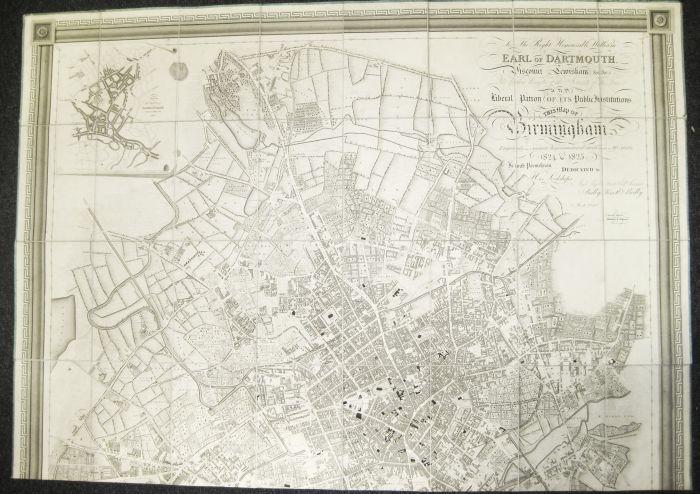 Lot 18 - Birmingham Plan - Piggott Smith, J., Surveyor & Engineer Map of Birmingham, engraved from a minute