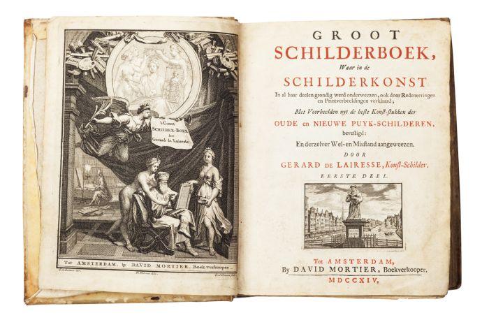 Lot 52 - Lairesse, Gerard de Groot Schilderboek, waar in de Schilderkonst in al haar deelen grondig werd