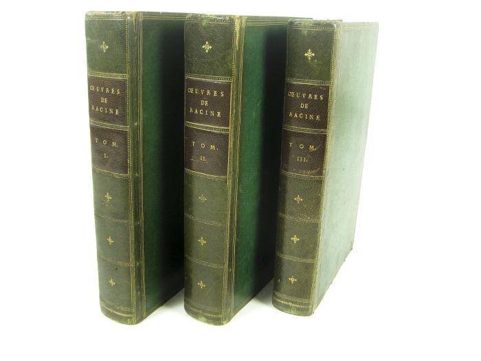 Lot 55 - Racine, Jean - Derome le Jeune, bookbinder Oeuvres. Paris: Didot l'ainé, 1784. 3 volumes, 8vo,