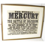Red Cross interest - Battle of Solferino - Caledonian Mercury Advertisement for the Caledonian