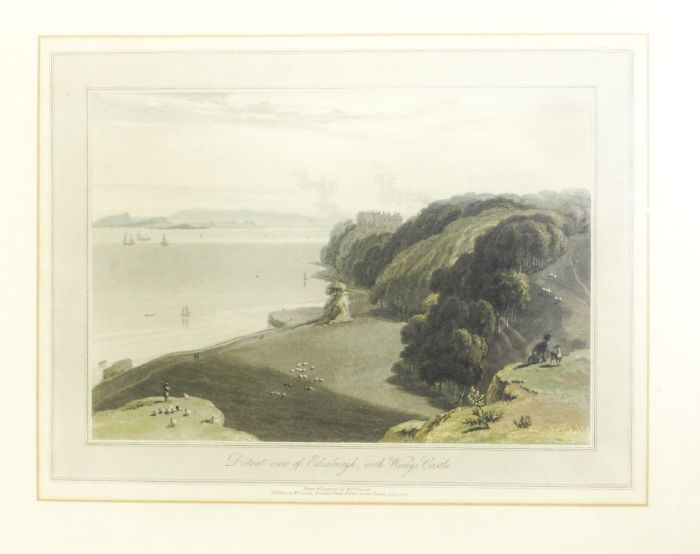 Lot 23 - Daniell, William 7 framed and glazed prints by William Daniell, comprising: Duntulm, Isle of Skye,