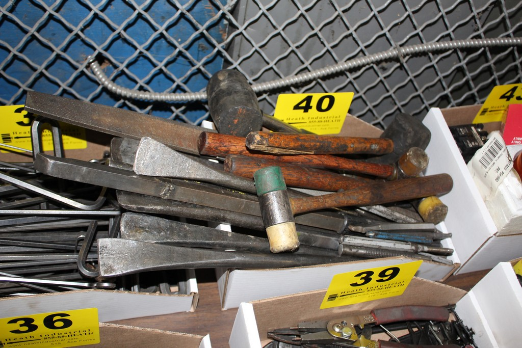 Lot 40 - ASSORTED HAMMERS & PRY BARS