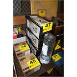 """(4) STERLING 10"""" WATER FILTER HOUSINGS IN BOX (APPEAR NEW) WITH ASSORTED FILTERS"""