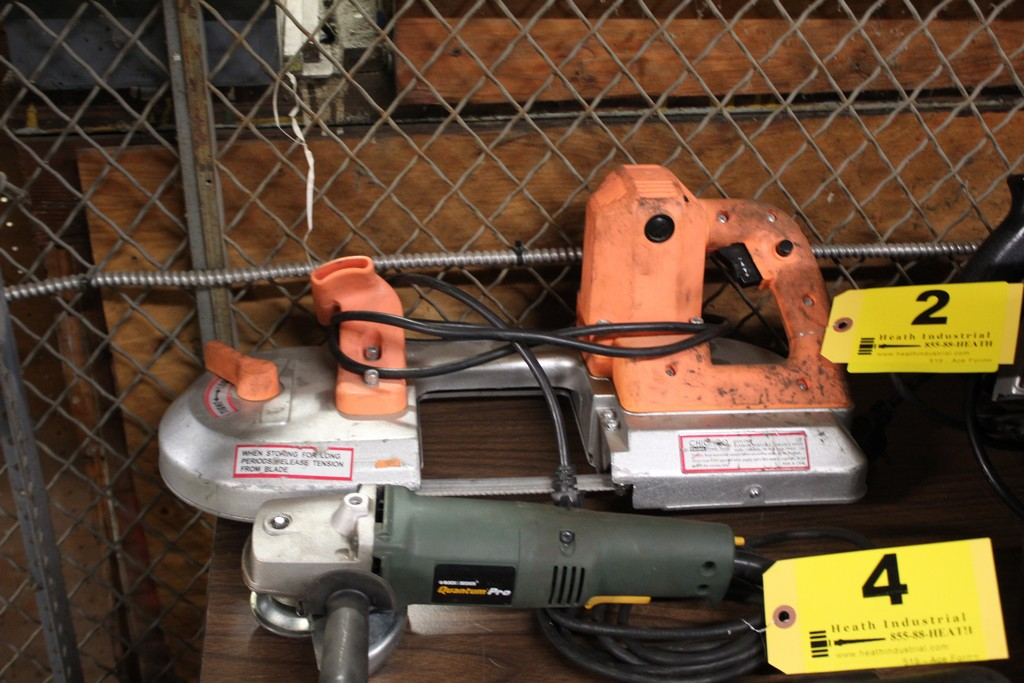 CHICAGO ELECTRIC MODEL 47840 PORTABLE BAND SAW, VARIABLE SPEED