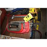 (8) ASSORTED C-CLAMPS