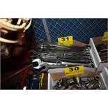 LARGE QTY OF COMBINATION WRENCHES IN BOX