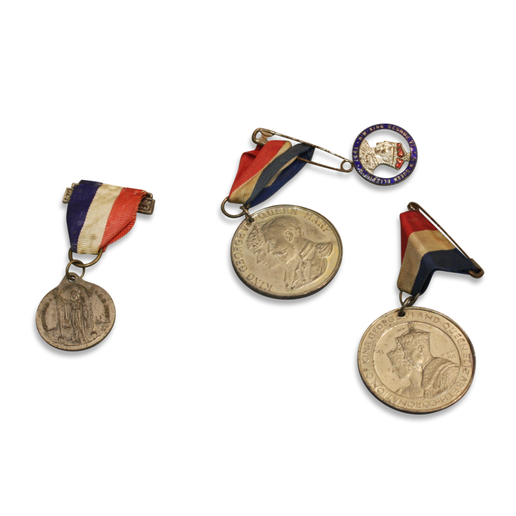 Lot 9 - WHITE METAL CORONATION MEDALS