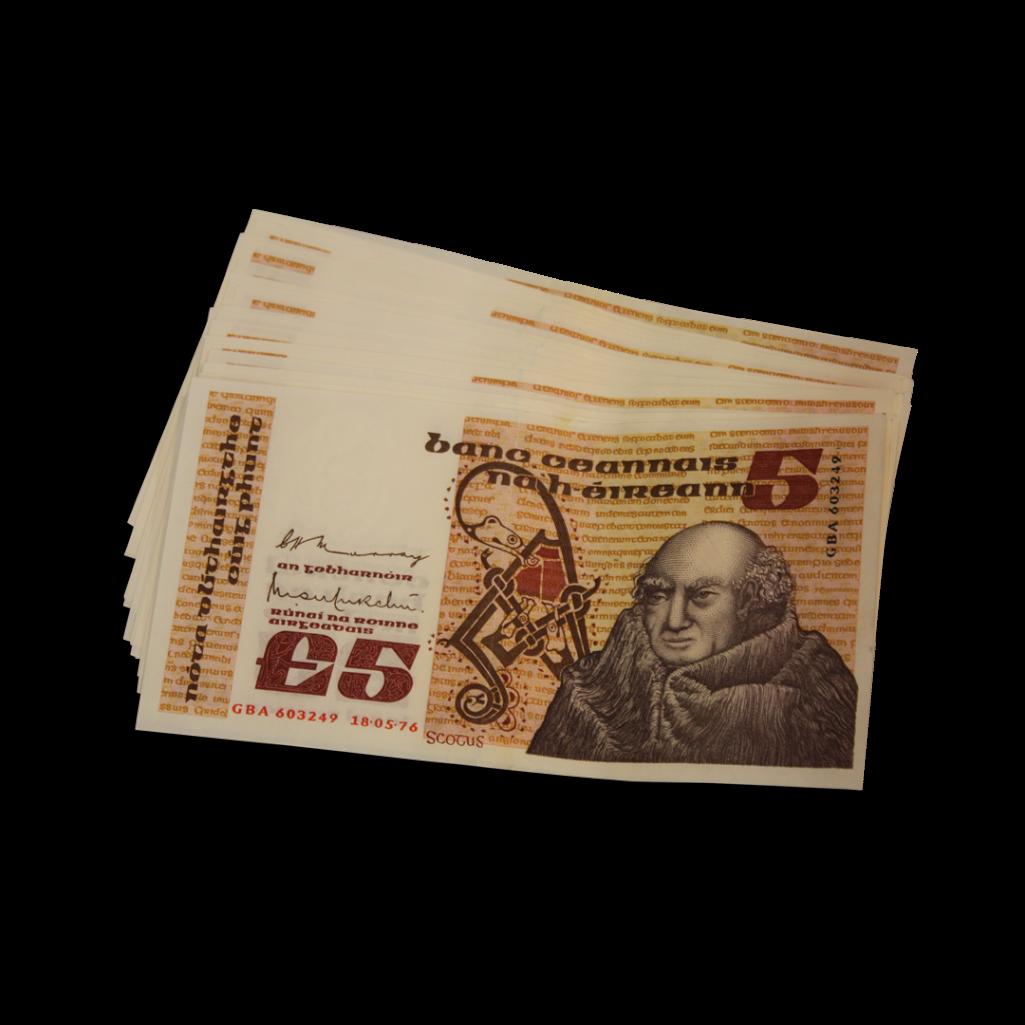 Lot 23 - IRSH SECOND SERIES SCOTUS £5 NOTES