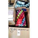 BOX OF CHRISTMAS ORANAMENTS