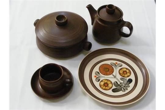 1970u0027s Denby Mayflower Stoneware tea and dinner service including 2 serving tureens and lids & 1970u0027s Denby Mayflower Stoneware tea and dinner service including 2 ...