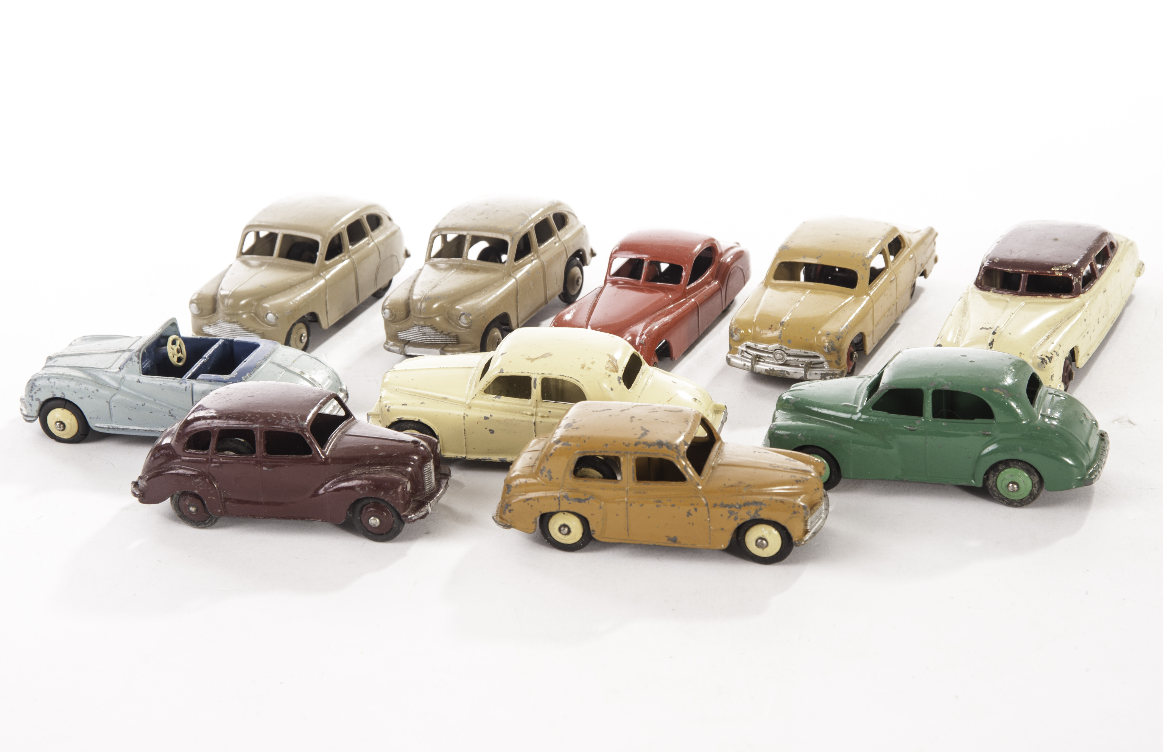 1950s Dinky Toy Cars, 40g Morris Oxford, green body, light green ...