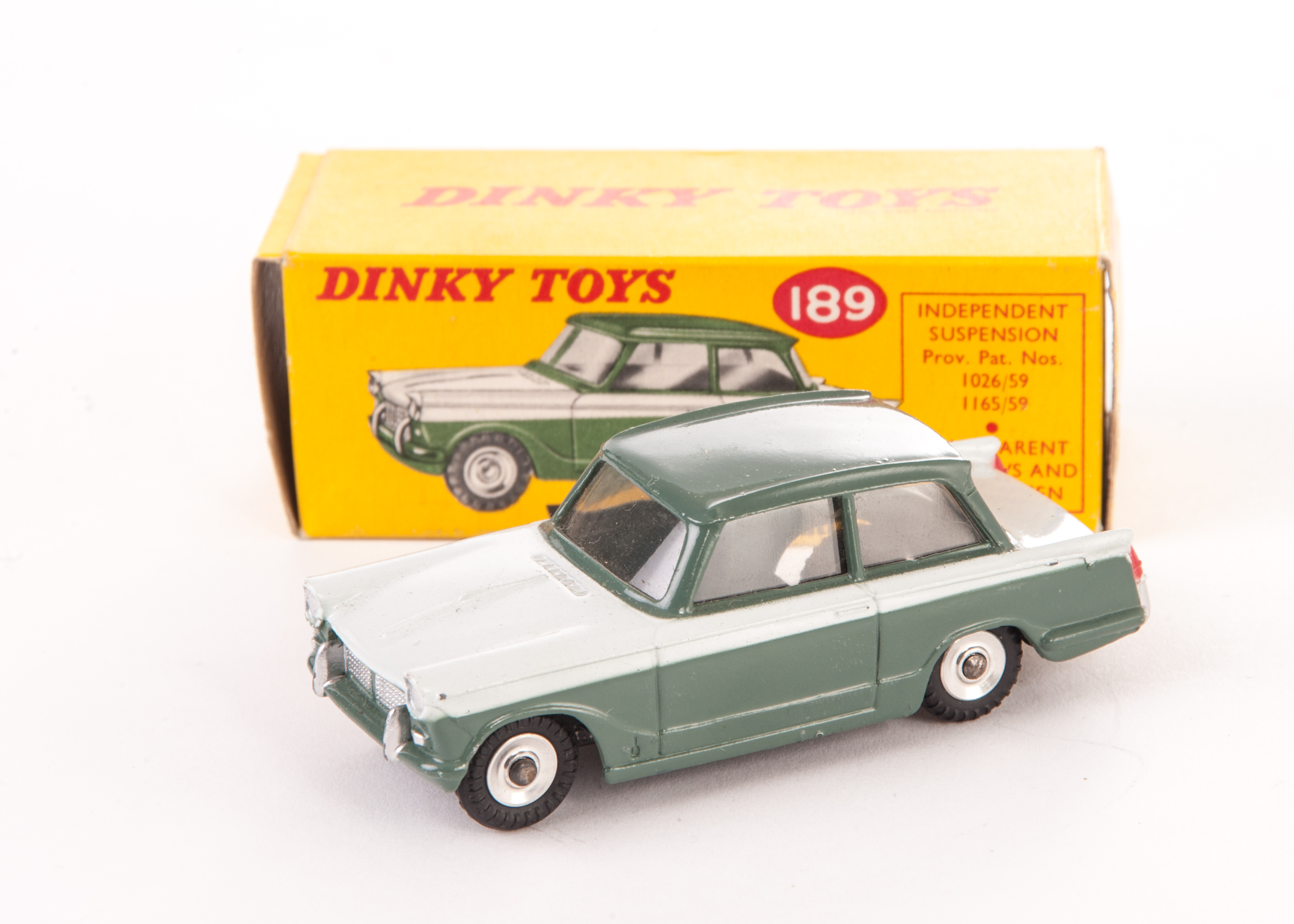 a rare dinky toys 189 triumph herald special issue in two tone lower body and roof lichfield gre. Black Bedroom Furniture Sets. Home Design Ideas