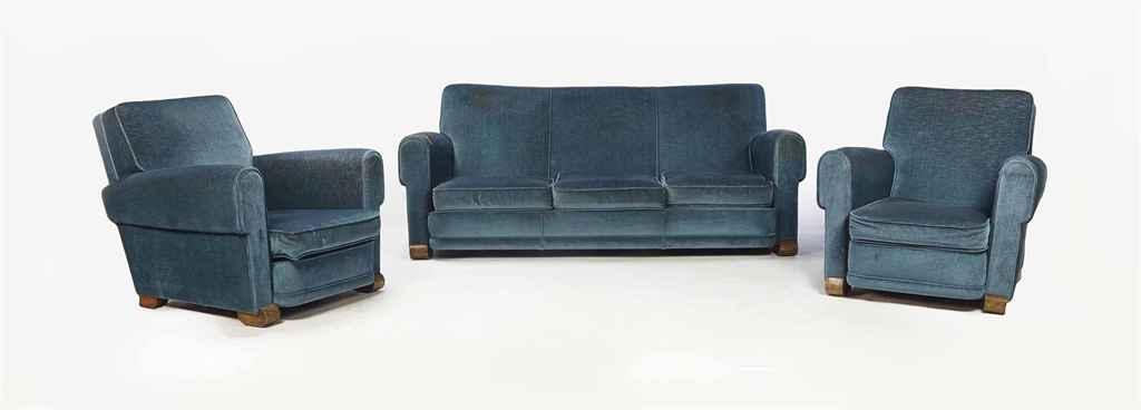 Jules leleu 1883 1961 mobilier de salon vers 1935 for Salon leleu