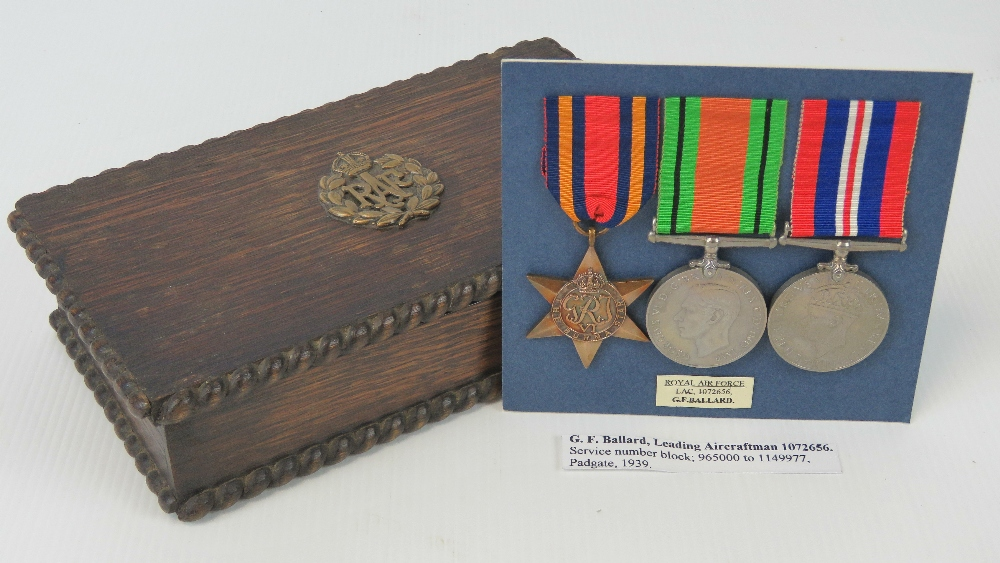 Lot 30 - A collection of items belonging to RAF L