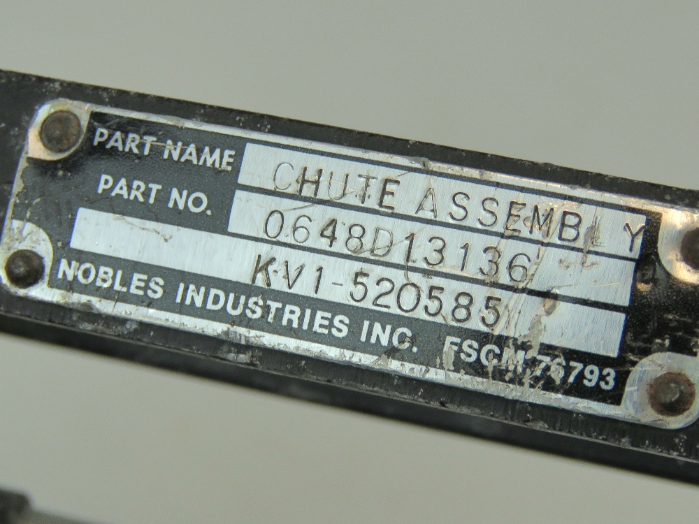 Lot 40 - A US military 20mm Cannon Chute assembly