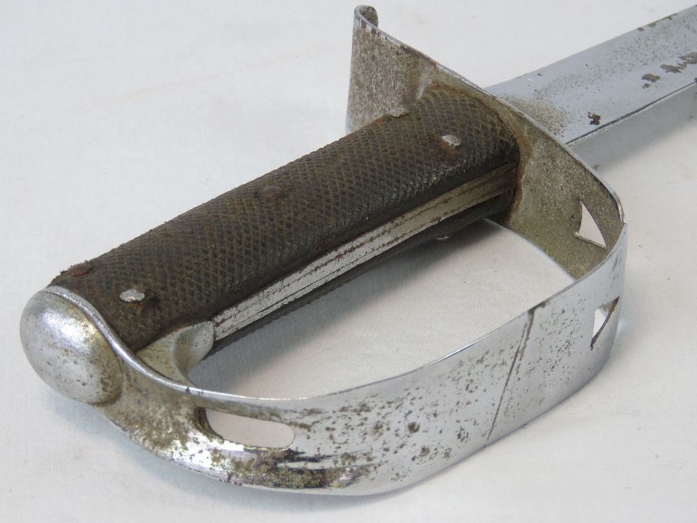Lot 67 - A sword having cut down blade and white