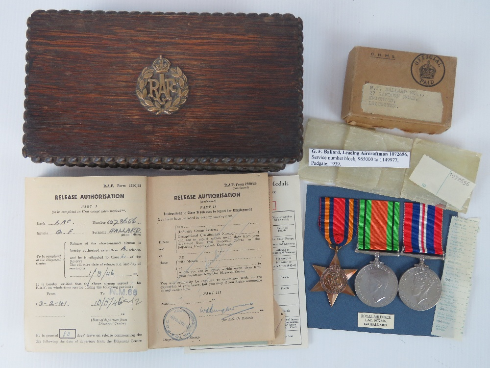 A collection of items belonging to RAF L