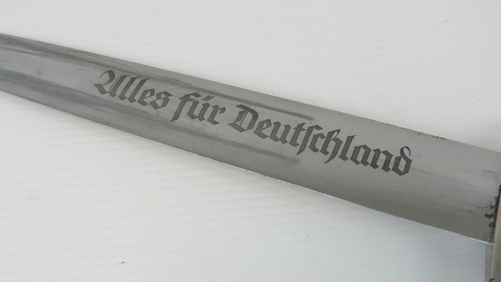 Lot 92 - A WWII German SA Officers dagger with fu