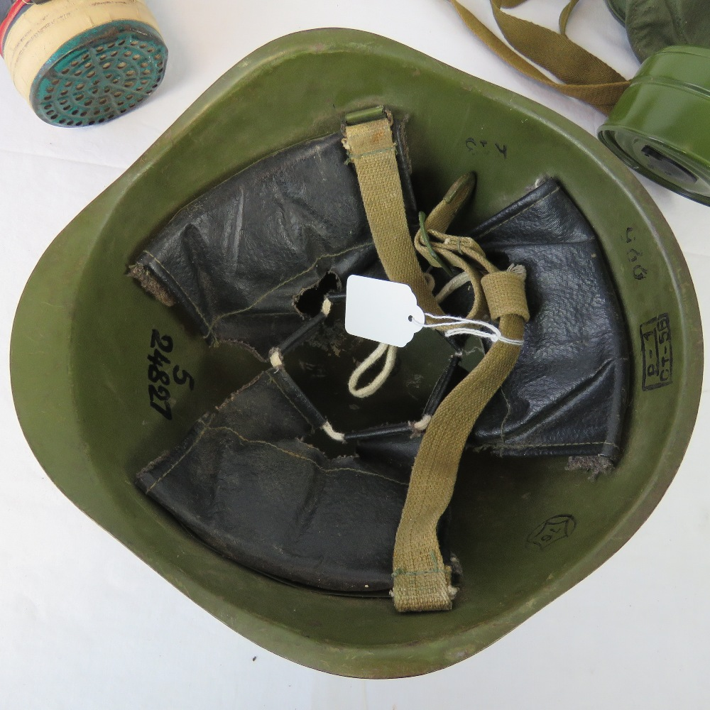 Lot 79 - A c1950s Russian helmet with chin strap