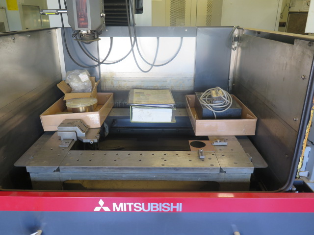 Mitsubishi BA24 CMC Wire EDM Machine w/ Mitsubishi Controls and Hand Controller, 0.2mm-0.3mm Dia. - Image 4 of 15