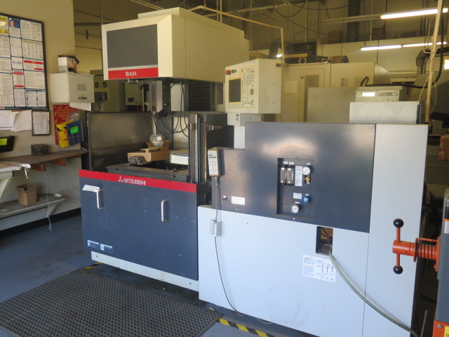 Mitsubishi BA24 CMC Wire EDM Machine w/ Mitsubishi Controls and Hand Controller, 0.2mm-0.3mm Dia. - Image 3 of 15
