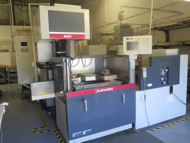 Mitsubishi BA24 CMC Wire EDM Machine w/ Mitsubishi Controls and Hand Controller, 0.2mm-0.3mm Dia. - Image 2 of 15