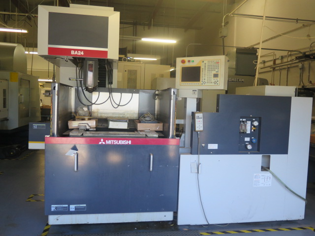 Mitsubishi BA24 CMC Wire EDM Machine w/ Mitsubishi Controls and Hand Controller, 0.2mm-0.3mm Dia.