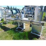 S/S In Line Mini Dose Product Filler, Dual Solenoid Type Fill Heads, With PlasticFeed Tank and