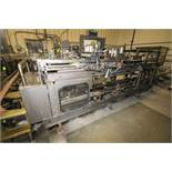 Hartness International; Model 8-558 Multi Lane Corrugated Drop Case Packer; Handles Multiple PET