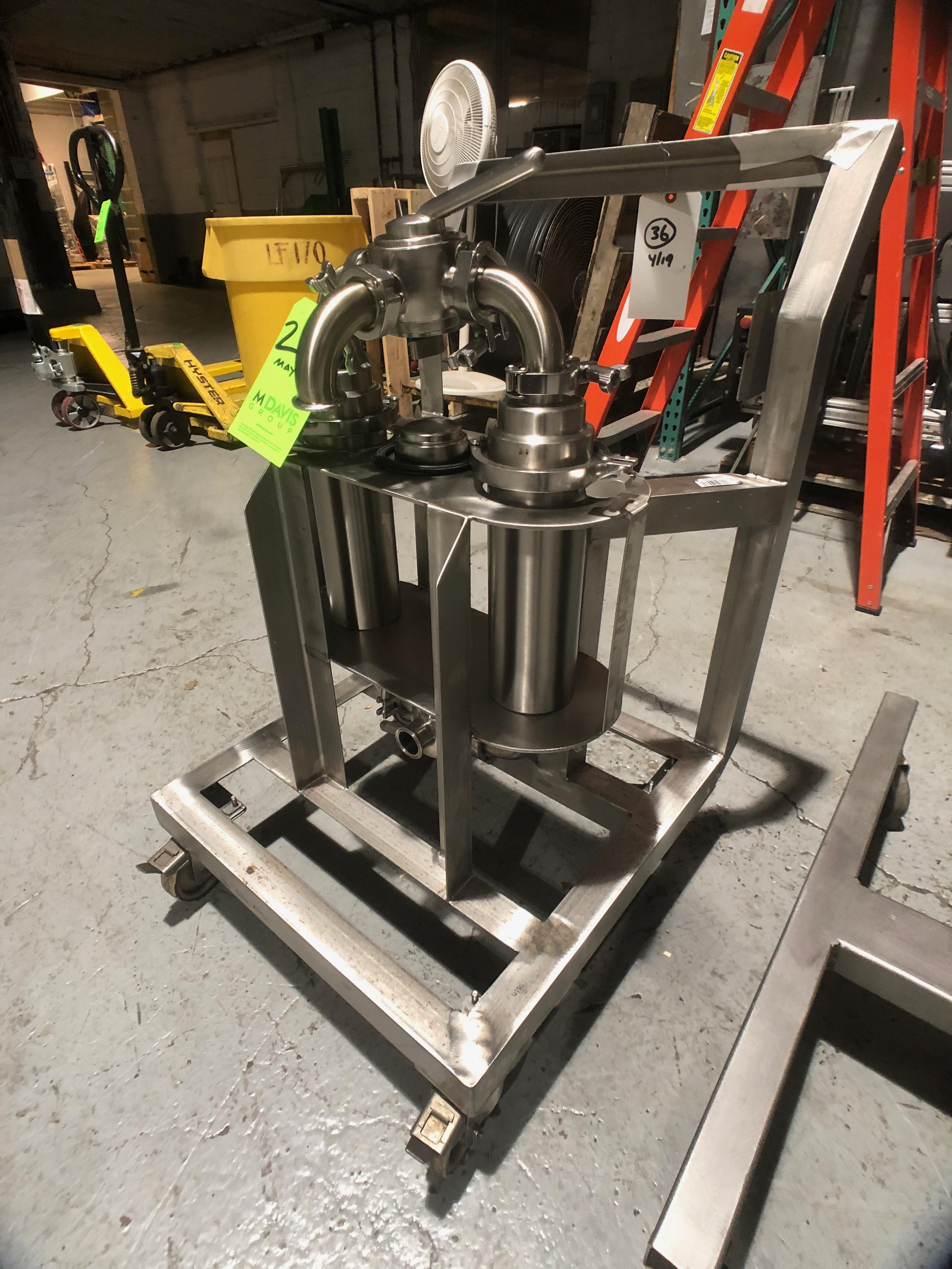 Lot 20 - Beacon Metal Fabricators Inc Portable Duplex Inline S/S Filter System, (2) Inline Filters & (2) 3-