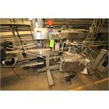 """Label Aire Model 2115-CD Wrap Around Labeler System with 12ft Long 4.5"""" S/STable Top Chain and"""