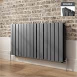 BRAND NEW BOXED 600x1210mm Anthracite Double Flat Panel Horizontal Radiator. RRP £549.99.Made ...