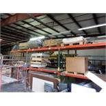 LOT (3) PALLET RACK SECTIONS W/EXTRA UPRIGHTS & HORIZONTALS