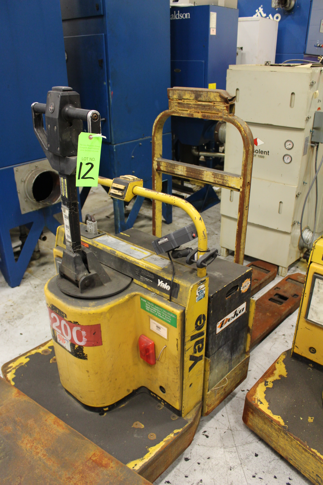 Lot 12 - Yale Model MPE060LCN24T2248 Rider-Type Electric Pallet Jack