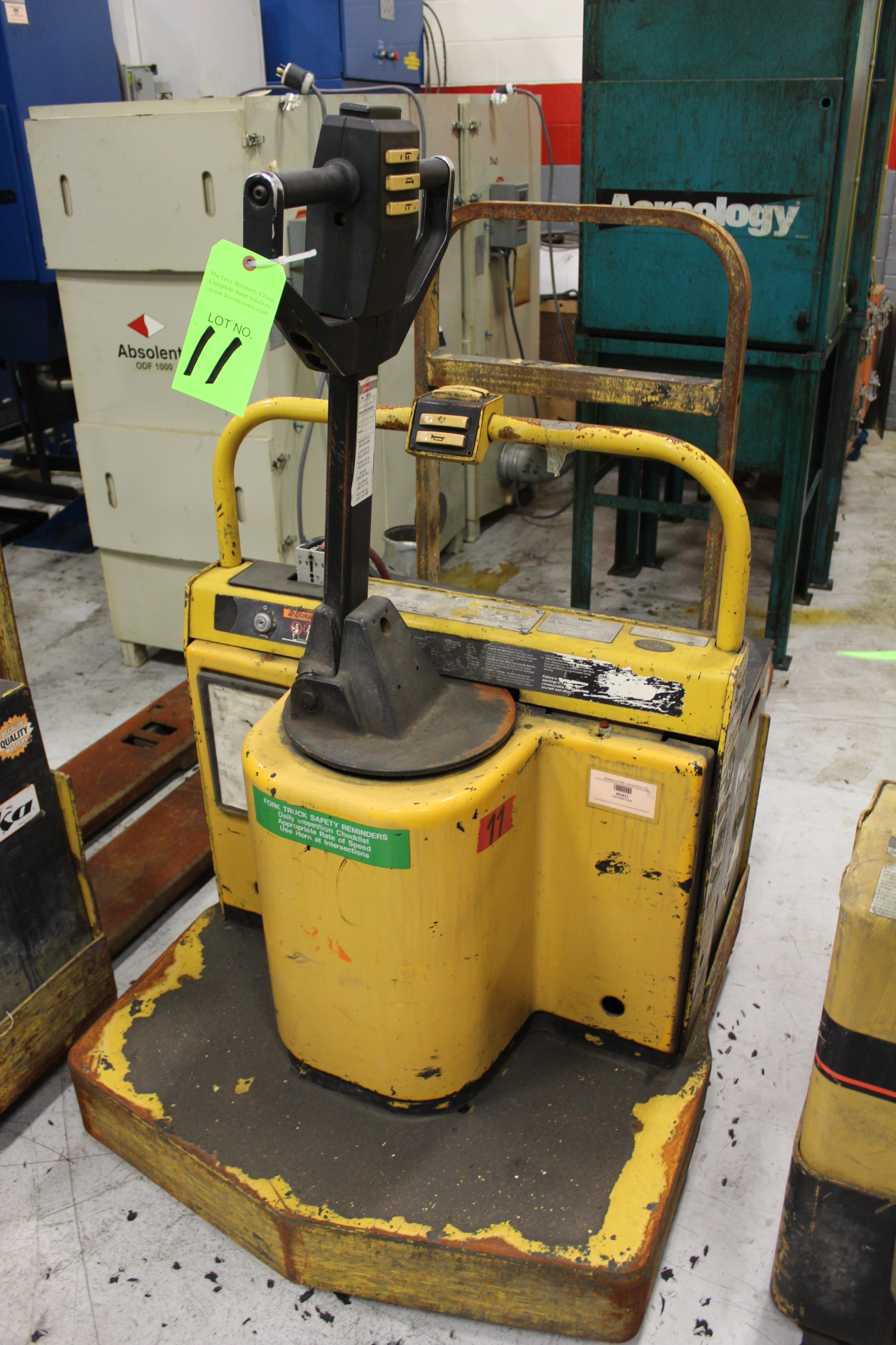 Lot 11 - Yale Model MPE060LCN24T2248 Rider-Type Electric Pallet Jack